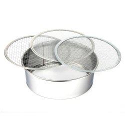 Soil Sieve Set, Stainless steel, 210mm