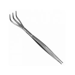 Rake with tweezers, Stainless steel, 220mm